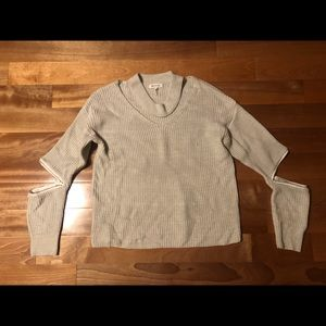 Sweaters - Choker Sweater with Arm Zippers